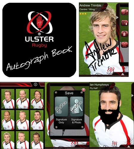 Ulster Rugby Autograph Book