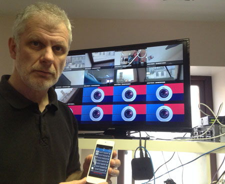 PVM for AXIS iOS app give many optimised Public View Monitor features including 4x4 and timed Guard Tour options