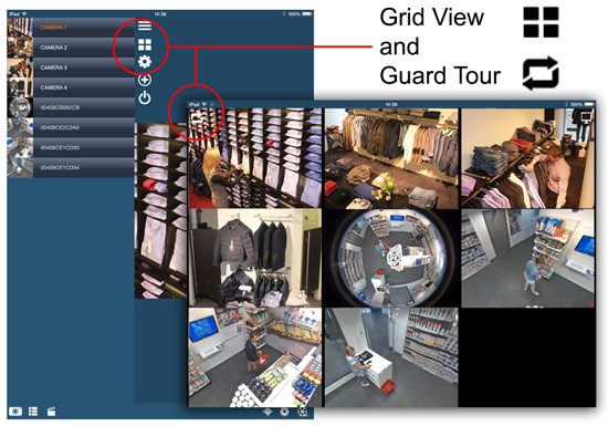 "Guard Tour displays each camera in the ""SITE"" for 5 seconds"
