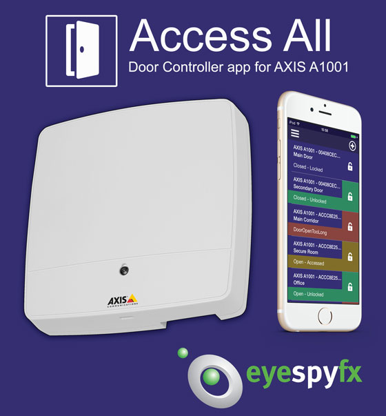 Access All door controller app for AXIS A1001